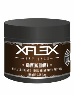 Xflex Vosk GLOWING BROWN modelovací s extra leskem 100ml